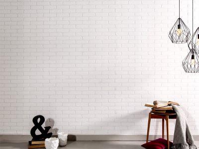 Caramida aparenta alba TECHSTONE WHITE - montaj final