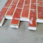 Panouri imitatie caramida exterior TECHSTONE RED ANTIC CREM 100 x 50 x 5 cm - c