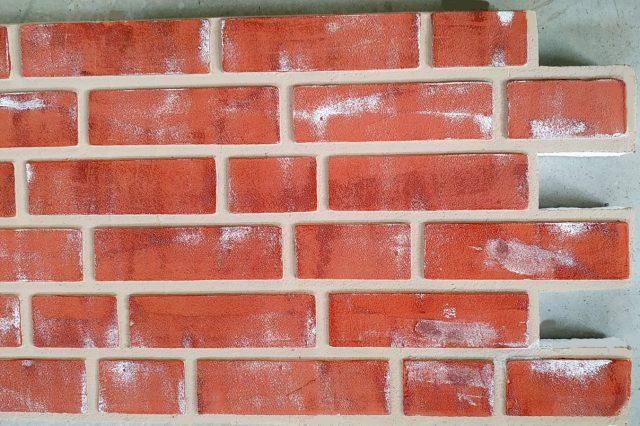 Panouri imitatie caramida exterior TECHSTONE RED ANTIC CREM 100 x 50 x 5 cm - d
