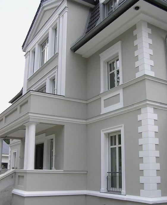 Coltare decorative pentru fatade exterioare Techstone White